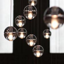 Modern Clear Bubble Crystal Ball Pendant Lamp G4 LED Cafe Bar Ceiling Light