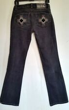 ELVIS Rare Bootcut Low Rise Embroidered Black Jean Wash Size W28 L31.5