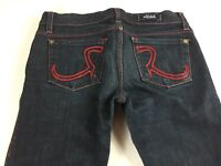 Rock & Republic Kassandra Jeans Womens 25/26 Boot 30 x 31 Actual Dark Pants Red