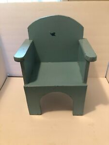 Vintage Doll Child Solid Wood Chair 17 1/2""