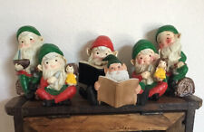 6 Homeco Elves, Gnomes, Pixie Christmas Or Garden Art 3 In Original Box People