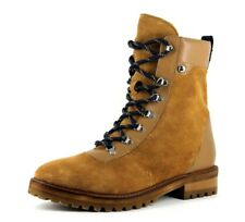 H&M Womens UK 7.5 EU 41 Tan Brown Real Suede Lace Up Hiker Style Ankle Boots