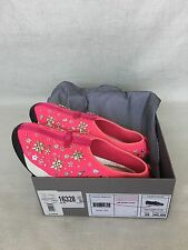 DIOR FUSION Crystal Embroidered Hot Neon Pink Sneakers Sz 39.