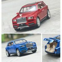 1/24 Rolls Royce Cullinan Alloy Diecast Car Model Sound Light 4 Color Gift Toy