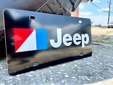 Reproduction Vanity License Plate for AMC Jeep in Black - Aluminum