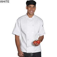 Edwards 3306 Unisex Ten Button Short Sleeve Chef Coat - White 4Xl
