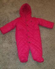 Baby Girls Polo Ralph Lauren Pink Snowsuit Size 6 Months VGC