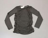 Fabletics Women's Kathie Seamless Ruched Long Sleeve Shirt MW7 Grey Medium NWT