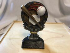 softball trophy Six Inches tall Features Glove ball, bat , Metal Base