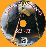 17 SCI-FI NOVELS MP3 UNABRIDGED AUDIO BOOK PCDVD SCIENCE FICTION CLASSIC AUTHORS
