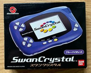 Wonder Swan Crystal Blue Violet Console + Game Boxed