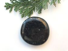 1 x Large A Grade Nuummite Crystal Palmstone - 40-45mm - The Sorcerers Stone!
