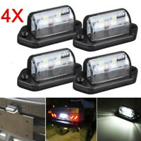 4pcs 12/24V 4 LED License Number Plate Light Lamps Car Truck Trailer Lorry Van
