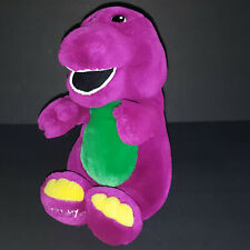 "Barney & Friends Purple Dinosaur 13"" Plush Stuffed Toy Vintage 1992 Lyons Lovey"