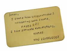 I found true happiness when. Copper Wallet Insert Keepsake Card -
