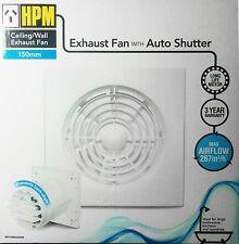 150mm Wall Exhaust Fan - Heavy Duty with Shutters