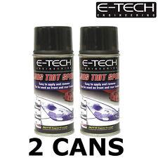 E-Tech Lens Tint / Light Tinting Spray - SMOKE / BLACK 300ml - Pack of 2x150ml