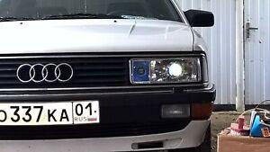 Audi 200 Polycarbonate Headlight Covers for retrofit, pair.