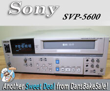 Sony SVP-5600 Professional S-VHS Videocassette Player with TBC - Works Great!