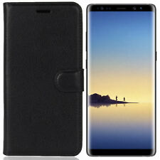 SAMAR - Samsung Galaxy Note 8 Premium Quality Wallet Cover Case Black with slots