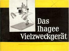 Instruction User's Manual Das Ihagee Vielzweckgerat German