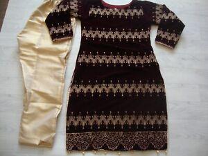 Maria b salwar kameez  Velvet Suit  Full  Embroidered  NEW for 2021 2pc
