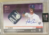 2019 TOPPS NOW PETE ALONSO RC AUTO BASE RELIC CARD #1 OF 25!!! ROOKIE HR RECORD