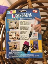 !NEW! Universal Inkjet Refill Kit Color Ink Refill Any Inkjet Cartridge