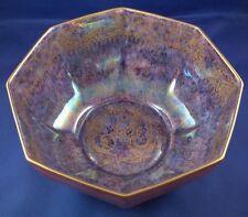 Nice 19thC Wedgwood English Dragon Luster Porcelain Bowl England Orange & Gold