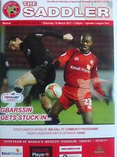 Walsall v Hartlepool United 19/3/2011 NPower League One MINT CONDITION RARE