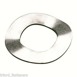 M3 (3mm) CRINKLE WASHERS / WAVY SPRING WASHER STAINLESS A2 - 50 PACK