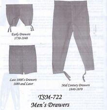 Timeless Stitches MEN'S DRAWER'S (UNDERWEAR) Pattern #722 Multi-SZ Sm to X-L