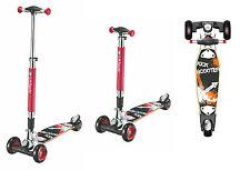 LA Sports Maxi Street Board Three Wheel Tri Scooter Kickboard for Kids & Adults