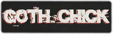 Bumper Stickers: GOTH CHICK | Gothic Girl Decal