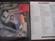 ROBERT PALMER ADDICTIONS VOLUME ONE ORIGINAL WITH LINER NOTES Analog Sealed LP