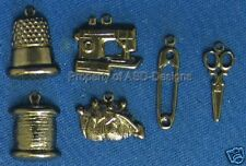 144 Hematite Plate Sewing Tailoring Crafting Charm 5218