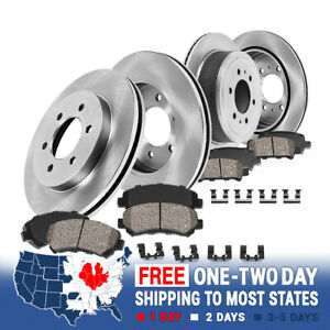 Front+Rear Brake Rotors & Ceramic Pads For 2015 2016 Chevy Colorado GMC Canyon