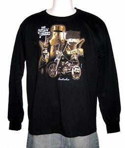 Ned Kelly Outlaw Legend Bike Rider Long Sleeve Black T Shirt S, M,L,XL,XXL,3XL