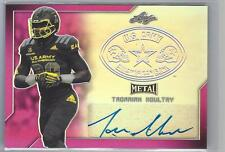 TADARIAN MOULTRY Auto 2017 Leaf US Army Pink Autograph 7/20 Auburn Tigers