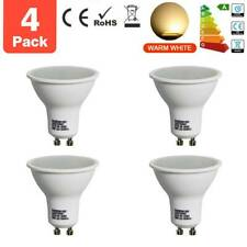 4x Bright GU10 4W=35w SMD LED Bulbs Lamps Wide Beam Warm White Light  Rating A+