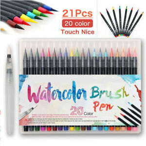 20 Colors Watercolor Drawing Painting Brush Artist Sketch Manga Marker Pen Set