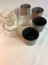 Votive Candle Holders Lot Clear Glass and Ceramic Lot Of 7