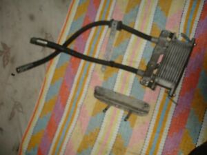 BREAKING DUCATI 600  620ss OIL COOLER & HOSES DESMO DUE RACE ITEM WITH BRACKET
