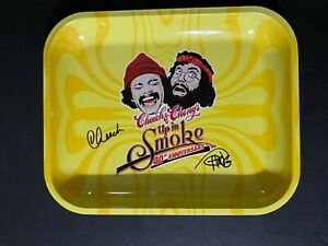 Cheech & Chong signed Large Rolling Tray W/ Beckett witnessed COA