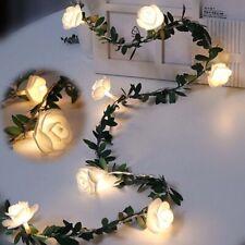 Rose Flower led Fairy String Lights Battery Powered Wedding Valentine's Day~
