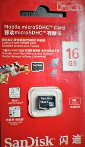 SanDisk 16GB SDHC MicroSD Memory Card Class 10 FREE SHIP