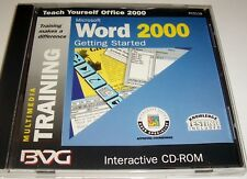 MICROSOFT WORD 2000 - GETTING STARTED - INTERACTIVE TUTORIAL CD-ROM - PC5118
