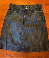 Banana Republic Blue Jean Stretch Denim Pencil Skirt Women's Size 4