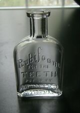 Antique RUBIFOAM FOR THE TEETH - LOWELL, MASS. Dentist's Medicine Bottle