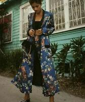 ZARA SOLD OUT BLUE SUMMER FLORAL DRESS KIMONO JACKET REF 2629/792 SIZE S